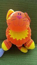 JELLYCAT JELLY KITTEN - LARGE ORANGE CAT PLUSH SOFT SENSORY TOY BOOK - LOVELY