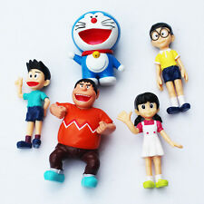 5pcs/lot 2.5-3inch Doraemon figures Nobita Nobi Figure PVC Dolls