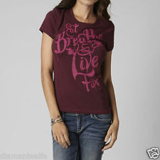 $24 Fox Racing Women's Show Off Crew Tee – Bordeaux sz XS
