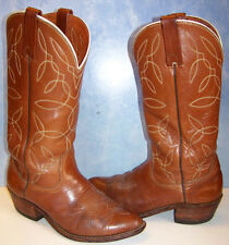 DURANGO WEST 13 inch stitched leather COWBOY Western BOOTS size 9 made in USA