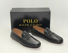 Polo Ralph Lauren Landan Navy Leather Penny Loafer Slip-On Driving Moccasins 8