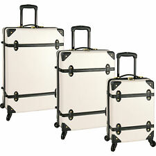 DIANE von FURSTENBERG SALUTI HARDSIDE 3 PIECE SPINNER LUGGAGE SET - $1140 VALUE