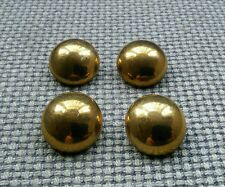 4 x Gold Tone Metal Tarnished Look Buttons 25mm Vintage Gothic Steampunk