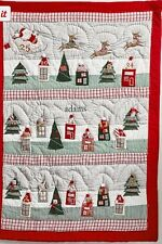 Pottery Barn Kids Classic Quilted ADVENT COUNTDOWN CALENDAR NORTH POLE Christmas