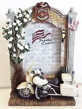 American Heroes Harley Davidson POLICE MOTORCYCLE Cop 4X6 Picture PHOTO FRAME