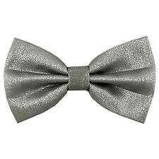 New Men's Pre tied bow tie Only Glitter Bowtie Silver wedding party formal