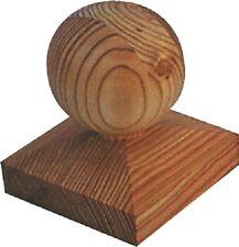 Pfostenkappe aus Lärchenholz 90 x 90 mm mit Kugel / Kappe für Pfosten 7 x 7 cm