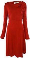 New Women's Eliza J Red Long Sleeve Bow Sweater Dress Sz L Ij33