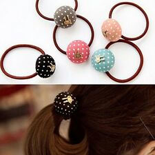 5PCS Cute Rabbit & Dots Rope Ring Hairband Women Girls Hair Band Ponytail TS2