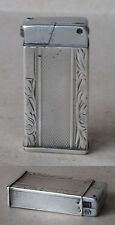 ANTIQUE SILVER ENGRAVED PETROL CIGARETTE LIGHTER / FUNCTIONAL
