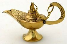 "5"" Inchs BRASS ALADDIN GENIE LAMP INCENSE DECORATION ~~ FREE SHIPPING !! ~~"