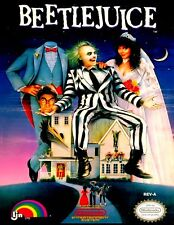 Nintendo Nes  BEETLEJUICE  Box Cover Photo Posters 8.5x11 Game Room ~