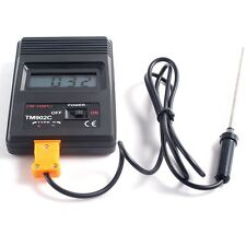 TM-902C Thermal Bimetallic Type Thermometer Temperature Meter + Probe