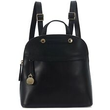 FURLA PIPER Backpack in leather ares printed saffiano ONYX