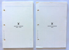 Lot of 2 NEW Authentic Louis Vuitton 2010 Monthly Calendar Agenda Refills