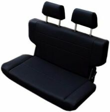 """1966-1977 Early Ford Bronco Fold and Tumble Rear Bench Seat 40"""" Black, Nice! New"""