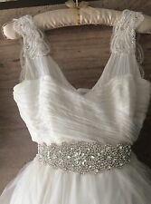 Anna Bridal Sash, Rhinestone, Wedding Dress Sash, Bridal Belt, Diamante Belt
