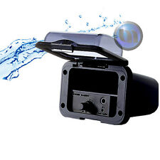 Mini Marine Waterproof Amplifier Housing + Handsfree Mini MIC - Black