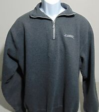 Reebok Dark Gray 1/2 Zip Fleece Pullover Jacket Mens Large