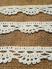 beautiful white crocheted vintage lace trimming braid