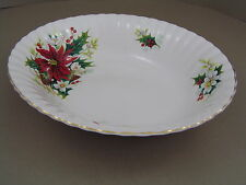 ROYAL ALBERT POINSETTIA OVAL VEGETABLE DISH, 1st.