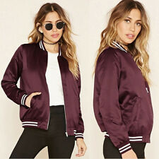 Women Fashion Varsity Jacket Sports Zipper Basketball Baseball Coat Casual Tops