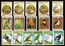 BENIN 1996/99  oiseaux et oisillons ,différentes espece  1m288t3