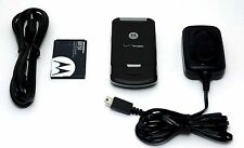 Motorola Verizon W755 Flip Cell Phone BLACK bluetooth vCast music 1.3 MP Camera