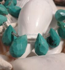 Turquoise Natural Gemstone Briolette Tear Drops Blue Faceted USA 14 MM (4)