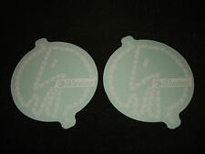 2 AUTHENTIC SHADOW CONSPIRACY BMX BIKE WHITE STICKERS #4 DECALS AUFKLEBER