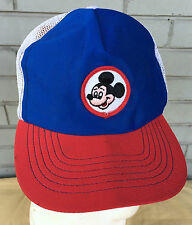 Disney Productions VTG Mickey Mouse Made in USA Snapback Baseball Hat Cap OLD