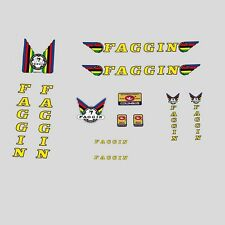 Faggin Bicycle Decals, Transfers, Stickers Yellow/Black n.100