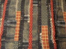 PATRIOTIC cotton quilting fabric material Kaufman denim jean red blue by th yard