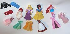 assorted small dolls and clothes  - some disney -some polly pockets