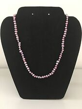 "New Freshwater pearl Pink purple Sterling Silver necklace - 18"" long"