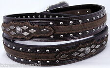 ARIAT belts men's casual western accessories Dk BROWN LEATHER CONCHO BELT 36 NWT