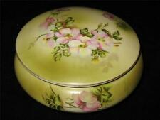 Hand Painted Nippon (Repro) WILDFLOWER  Round Covered Bowl Bathroom Vanity
