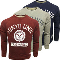 Mens Jumpers Tokyo Laundry Sweatshirt Jumper Crew Neck Soft Coltton Top S M L XL