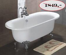SHM 202 Freistehende Badewanne Retro Design inkl.Armatur & Überlaufgarnitur