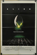 ALIEN 1979 ORIGINAL 27X41 1-SHEET MOVIE POSTER SIGOURNEY WEAVER JOHN HURT