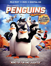 NEW!!  Penguins of Madagascar (Blu-ray + DVD + Digital HD, 2015, 2-Disc Set)