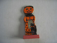 Vintage 1920's Skittles Game Piece, Halloween Pumkin head and black cat Germany