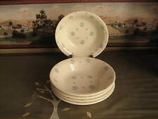 Royal China Co. Vintage Dessert Dishes Set of Five  Blue Flower Buds USA