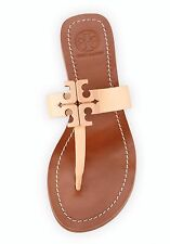 New Tory Burch Moore 2 Leather Thong Sandals Light Oak Size 7M