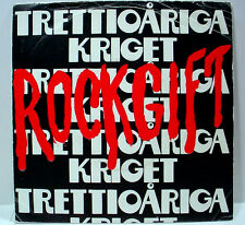 "TRETTIOARIGA KRIGET - Rockgift (Mistlur) - '78 Sweden press prog - 7""/45rpm w/PS"