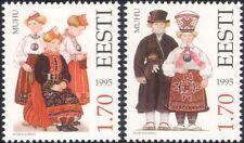 Estonia 1995 trajes tradicionales/Ropa/Textil/Diseño/Heritage 2v Set ee1103