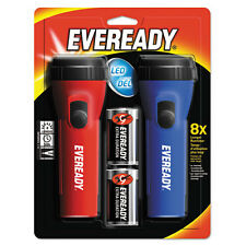 """Eveready Led Economy Flashlight, Red/blue, 2/pack"""