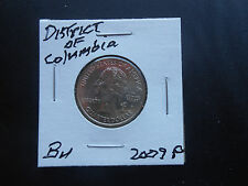 2009 P: District of Columbia Territorial Quarter  BU from mint roll (1 coin) #91