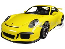 2013 PORSCHE 911 GT3 (991) YELLOW W/SILVER WHEELS 1/18 BY MINICHAMPS 110062722