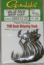 "GAMAKATSU SKIP GAP BASS FISHING HOOKS ""Value Pack"" 266412-25 size 2/0 25 pk NSB"